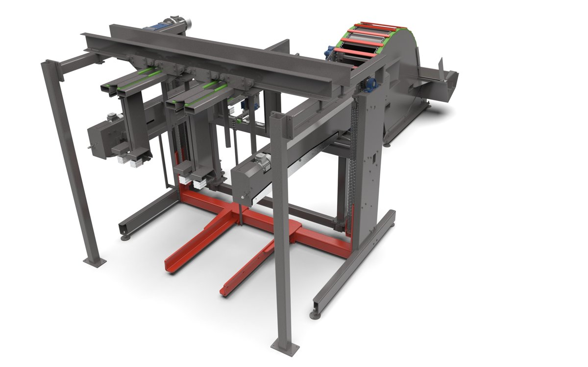 pallet board stacker - forma - stacking  line