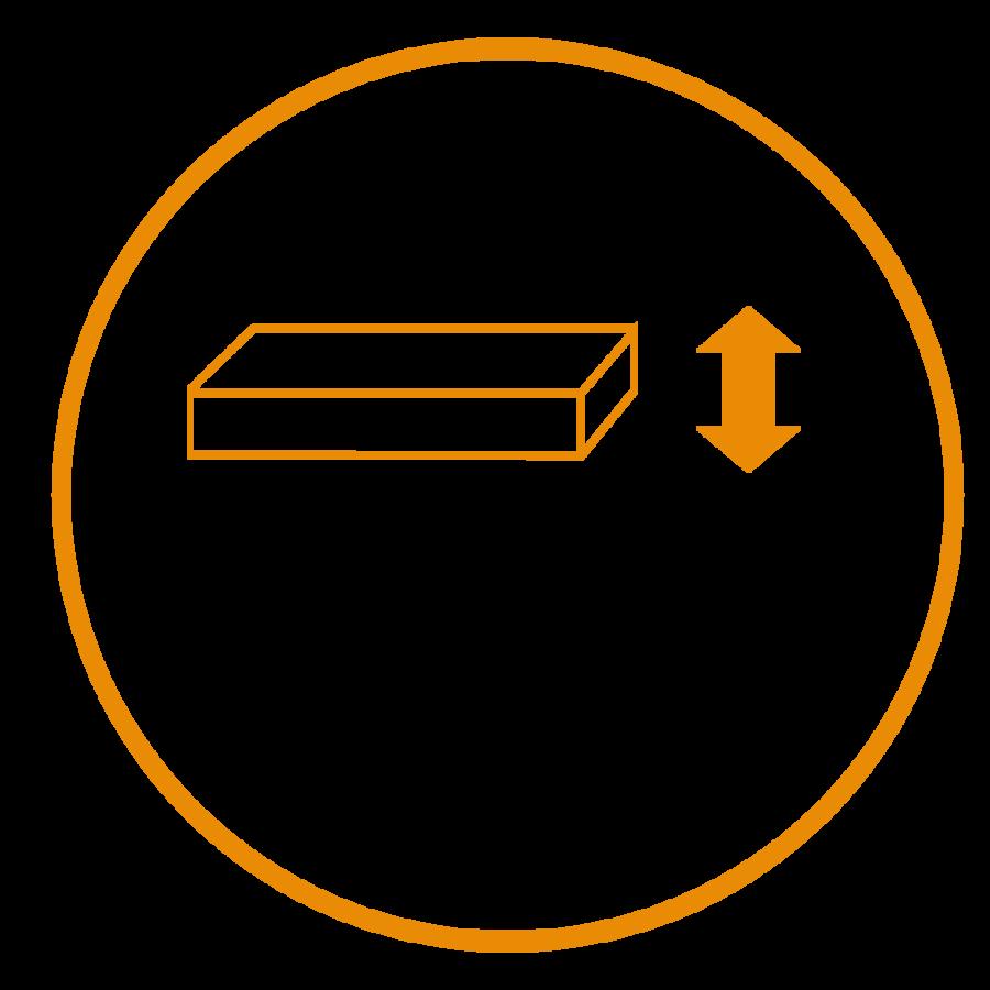 dēļu pakotājs -  forma - materiāla platums